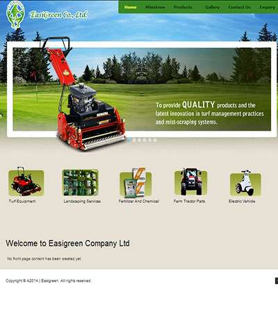 Easi Green Co.,Ltd. Web Design By Myanmar Website World