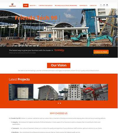 Friendstech99 Co.,Ltd. Web Design by Myanmar Website World